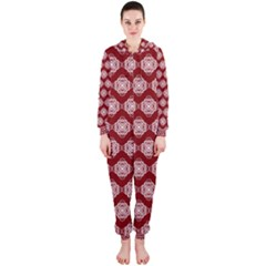 Abstract Knot Geometric Tile Pattern Hooded Jumpsuit (Ladies)