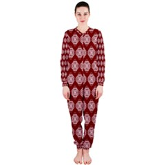 Abstract Knot Geometric Tile Pattern Onepiece Jumpsuit (ladies)