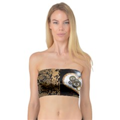 Steampunk, Awesome Heart With Clocks And Gears Women s Bandeau Tops