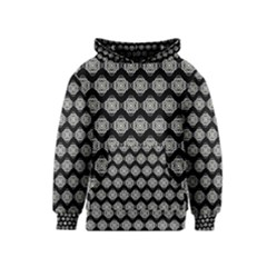 Abstract Knot Geometric Tile Pattern Kid s Pullover Hoodies
