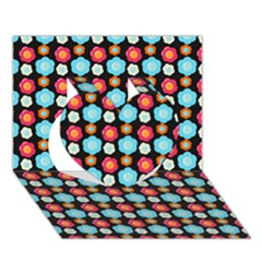 Colorful Floral Pattern Heart 3D Greeting Card (7x5)