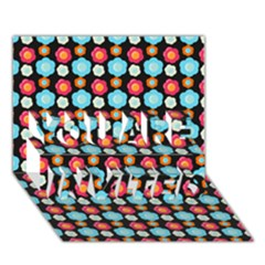 Colorful Floral Pattern You Are Invited 3d Greeting Card (7x5)