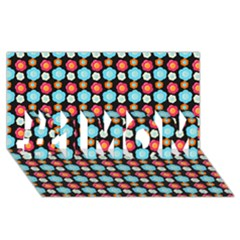 Colorful Floral Pattern #1 MOM 3D Greeting Cards (8x4)