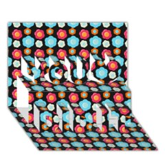 Colorful Floral Pattern You Did It 3D Greeting Card (7x5)