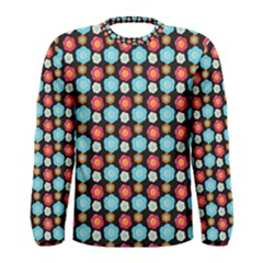 Colorful Floral Pattern Men s Long Sleeve T-shirts