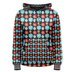 Colorful Floral Pattern Women s Pullover Hoodies