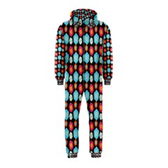Colorful Floral Pattern Hooded Jumpsuit (Kids)