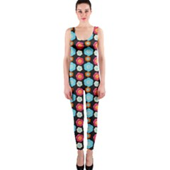 Colorful Floral Pattern OnePiece Catsuits