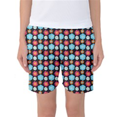 Colorful Floral Pattern Women s Basketball Shorts