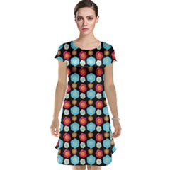 Colorful Floral Pattern Cap Sleeve Nightdresses