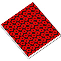 Charcoal And Red Peony Flower Pattern Small Memo Pads