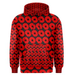 Charcoal And Red Peony Flower Pattern Men s Pullover Hoodies