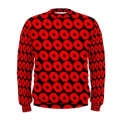 Charcoal And Red Peony Flower Pattern Men s Sweatshirts
