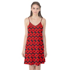 Charcoal And Red Peony Flower Pattern Camis Nightgown