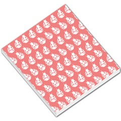 Coral And White Lady Bug Pattern Small Memo Pads