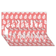 Coral And White Lady Bug Pattern Congrats Graduate 3D Greeting Card (8x4)