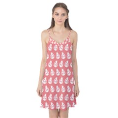Coral And White Lady Bug Pattern Camis Nightgown