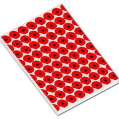 Red Peony Flower Pattern Large Memo Pads