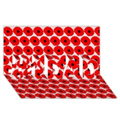 Red Peony Flower Pattern #1 Dad 3d Greeting Card (8x4)