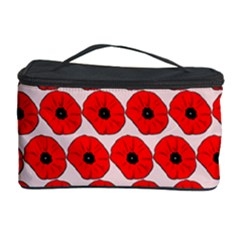 Red Peony Flower Pattern Cosmetic Storage Cases