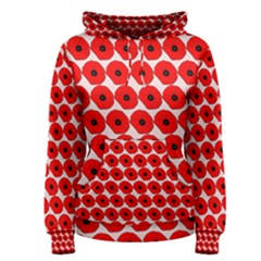 Red Peony Flower Pattern Women s Pullover Hoodies