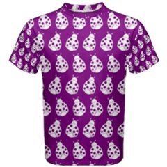 Ladybug Vector Geometric Tile Pattern Men s Cotton Tees