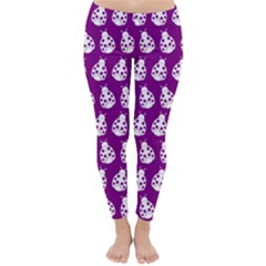 Ladybug Vector Geometric Tile Pattern Winter Leggings