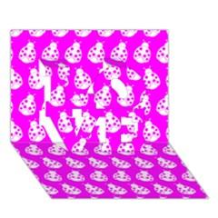 Ladybug Vector Geometric Tile Pattern LOVE 3D Greeting Card (7x5)