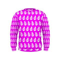 Ladybug Vector Geometric Tile Pattern Boys  Sweatshirts