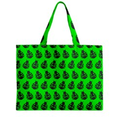 Ladybug Vector Geometric Tile Pattern Zipper Tiny Tote Bags