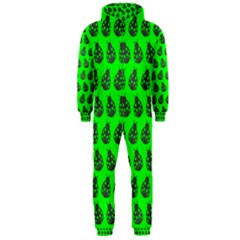 Ladybug Vector Geometric Tile Pattern Hooded Jumpsuit (men)