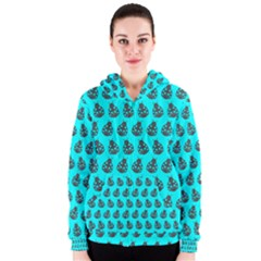 Ladybug Vector Geometric Tile Pattern Women s Zipper Hoodies