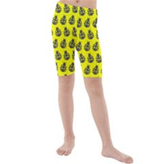 Ladybug Vector Geometric Tile Pattern Kid s swimwear