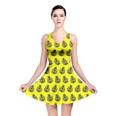 Ladybug Vector Geometric Tile Pattern Reversible Skater Dresses