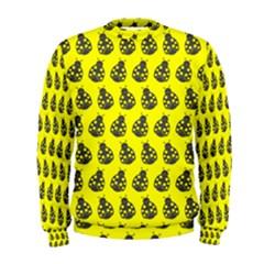 Ladybug Vector Geometric Tile Pattern Men s Sweatshirts