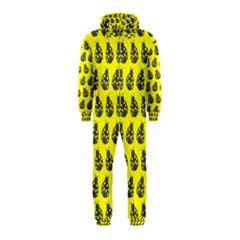 Ladybug Vector Geometric Tile Pattern Hooded Jumpsuit (Kids)