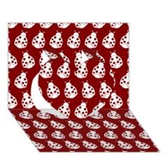 Ladybug Vector Geometric Tile Pattern Heart 3D Greeting Card (7x5)