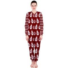Ladybug Vector Geometric Tile Pattern OnePiece Jumpsuit (Ladies)