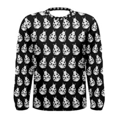 Ladybug Vector Geometric Tile Pattern Men s Long Sleeve T-shirts