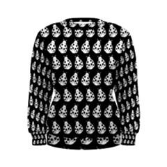 Ladybug Vector Geometric Tile Pattern Women s Sweatshirts