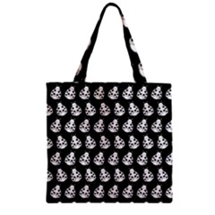 Ladybug Vector Geometric Tile Pattern Zipper Grocery Tote Bags