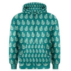 Ladybug Vector Geometric Tile Pattern Men s Zipper Hoodies