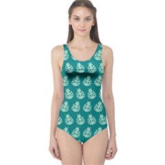 Ladybug Vector Geometric Tile Pattern Women s One Piece Swimsuits