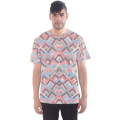 Trendy Chic Modern Chevron Pattern Men s Sport Mesh Tees