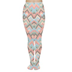 Trendy Chic Modern Chevron Pattern Women s Tights