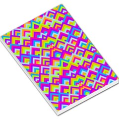 Colorful Trendy Chic Modern Chevron Pattern Large Memo Pads