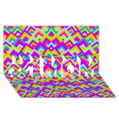 Colorful Trendy Chic Modern Chevron Pattern #1 MOM 3D Greeting Cards (8x4)