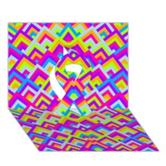 Colorful Trendy Chic Modern Chevron Pattern Ribbon 3D Greeting Card (7x5)