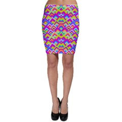 Colorful Trendy Chic Modern Chevron Pattern Bodycon Skirts