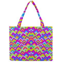 Colorful Trendy Chic Modern Chevron Pattern Tiny Tote Bags